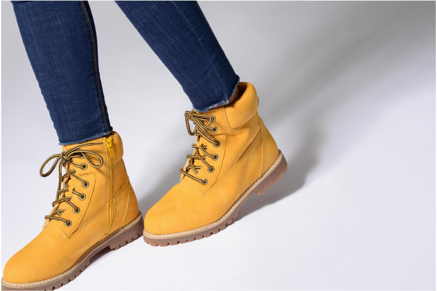 Ankle boots Esprit Landy LU Bootie Yellow view from underneath / model view