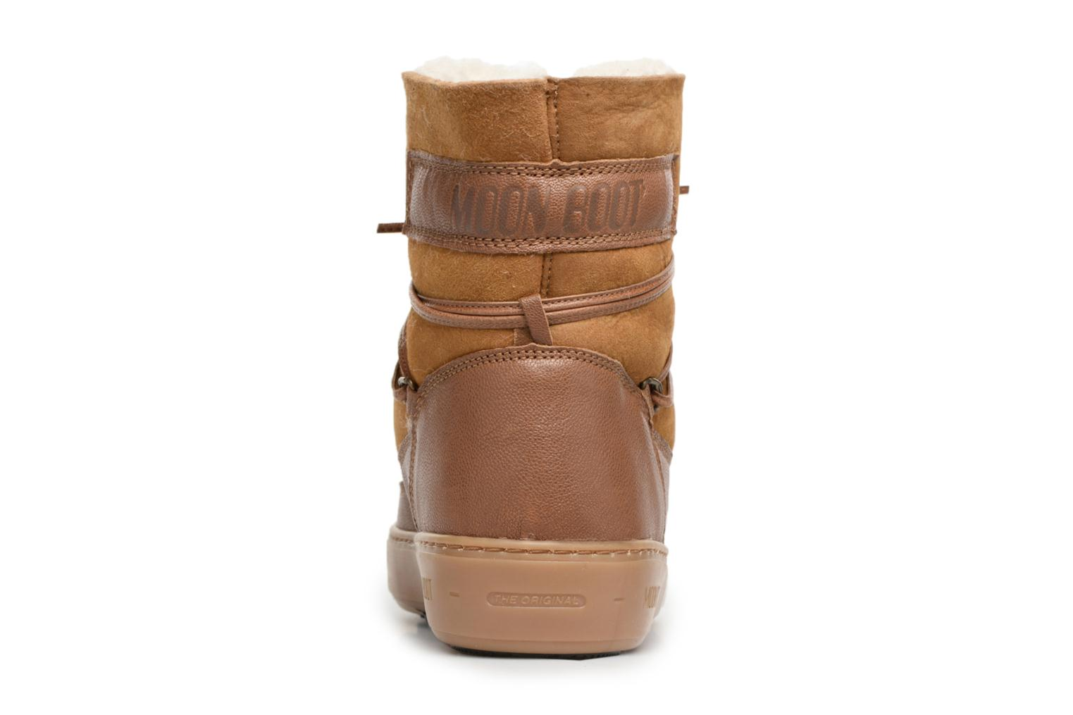 Sport shoes Moon Boot Pulse low shearling Brown view from the right