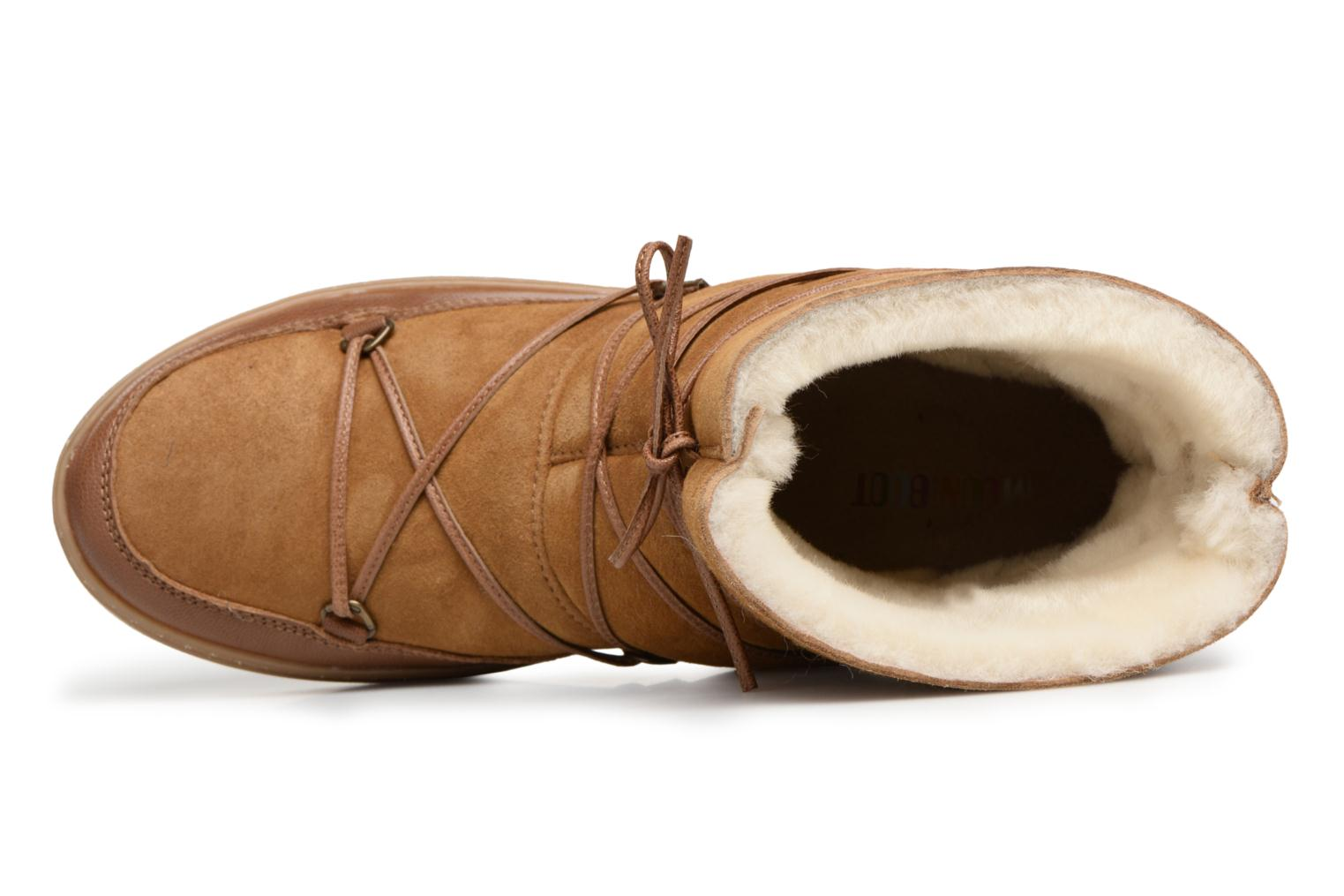 Sport shoes Moon Boot Pulse low shearling Brown view from the left