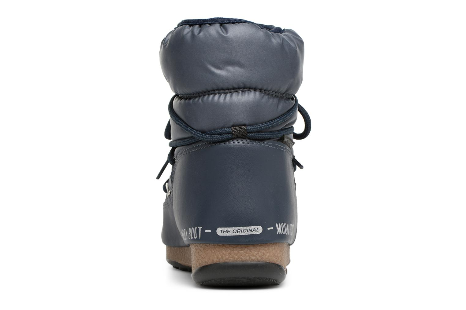 Sport shoes Moon Boot Low Nylon Blue view from the right