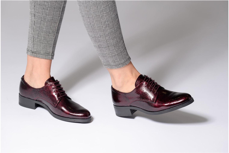 Chaussures à lacets Georgia Rose Galion Noir vue bas / vue portée sac