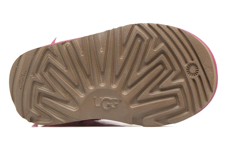 Bottes UGG Mini Bailey Bow II K Rose vue haut
