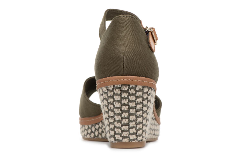 Sandales et nu-pieds Tommy Hilfiger ICONIC ELBA SANDAL BASIC Vert vue droite
