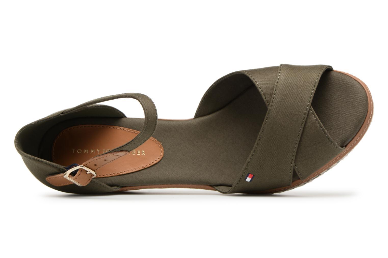 Sandales et nu-pieds Tommy Hilfiger ICONIC ELBA SANDAL BASIC Vert vue gauche