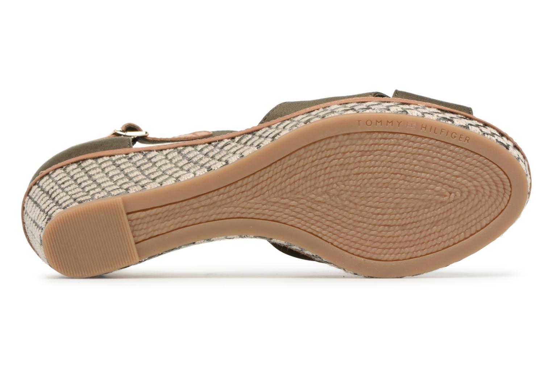 Sandales et nu-pieds Tommy Hilfiger ICONIC ELBA SANDAL BASIC Vert vue haut