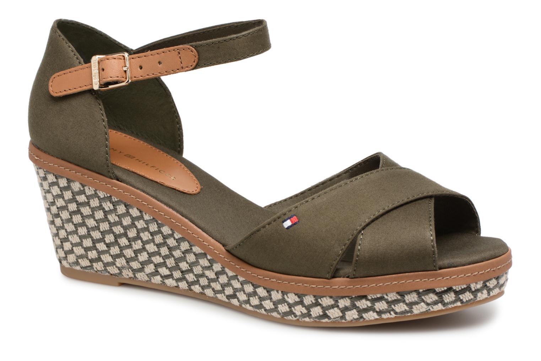 Sandales et nu-pieds Tommy Hilfiger ICONIC ELBA SANDAL BASIC Vert vue détail/paire