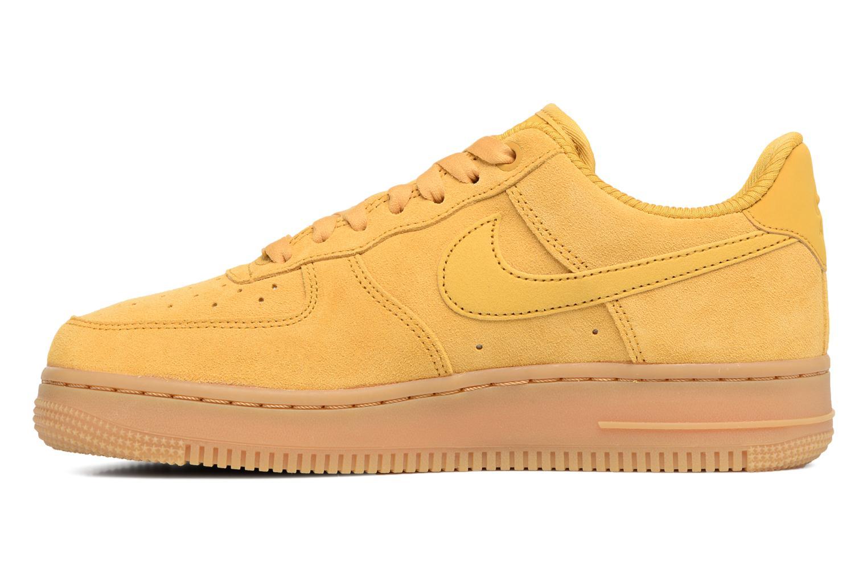 Baskets Nike Wmns Air Force 1 '07 Se Jaune vue face