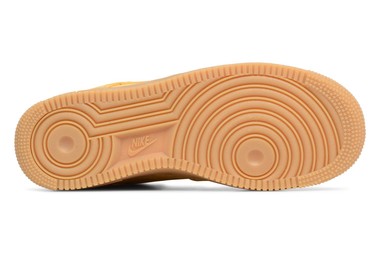 Baskets Nike Wmns Air Force 1 '07 Se Jaune vue haut