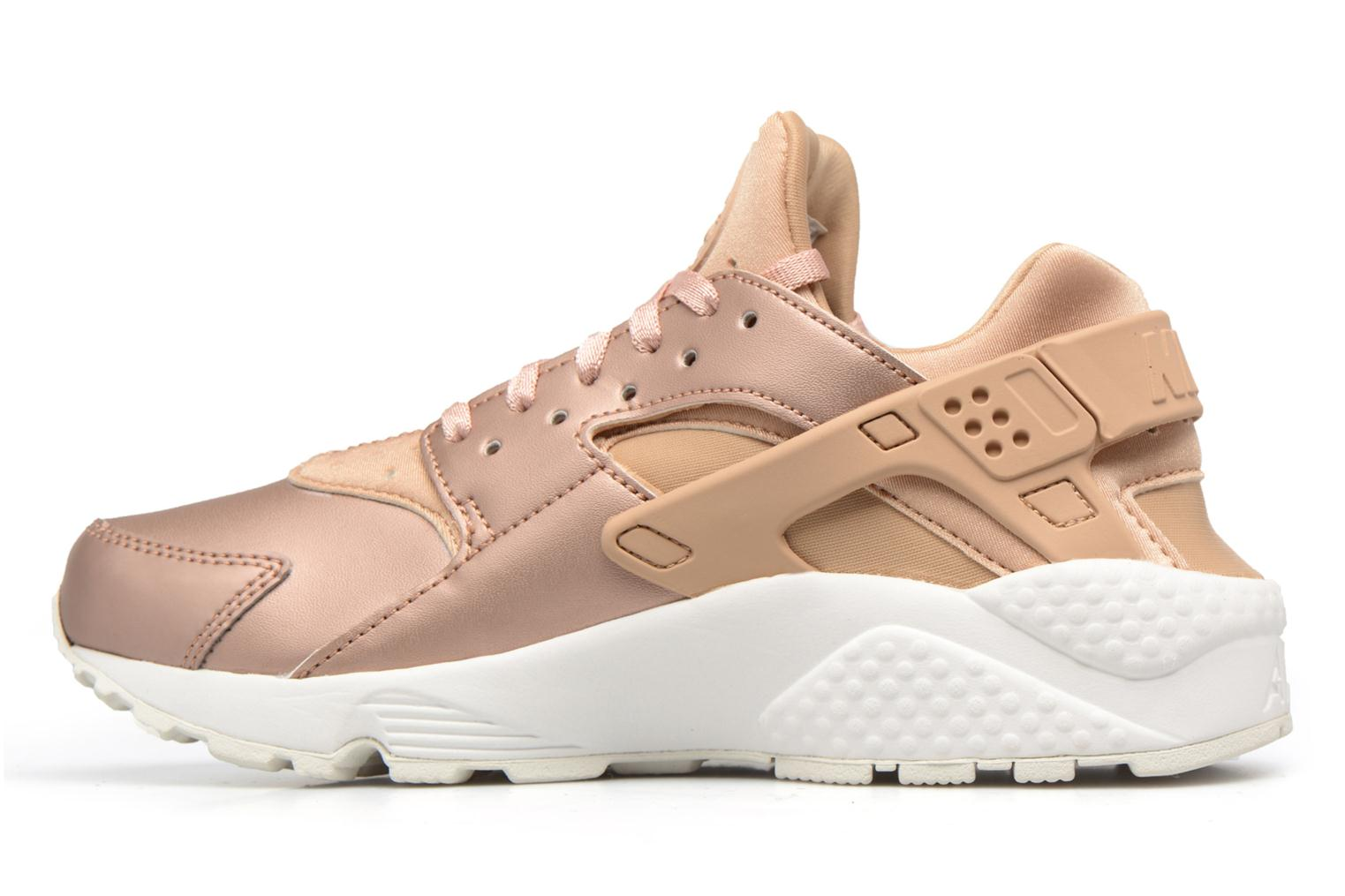 Baskets Nike Wmns Air Huarache Run Prm Txt Or et bronze vue face