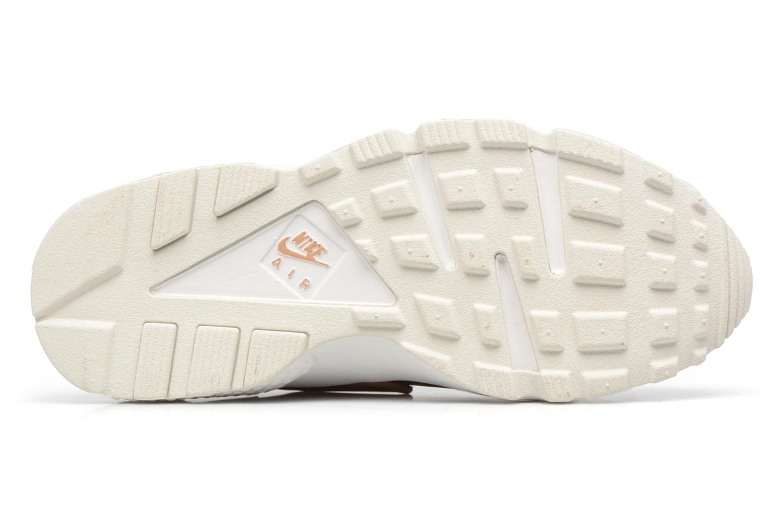 Baskets Nike Wmns Air Huarache Run Prm Txt Or et bronze vue haut