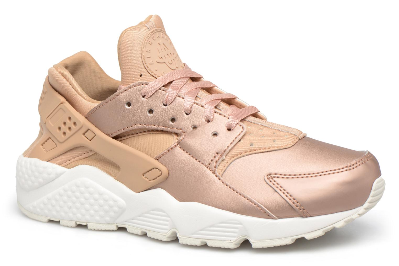 Baskets Nike Wmns Air Huarache Run Prm Txt Or et bronze vue détail/paire
