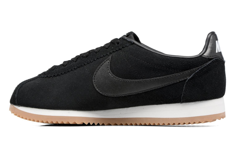 Sneaker Nike Wmns Classic Cortez Suede weiß ansicht von vorne