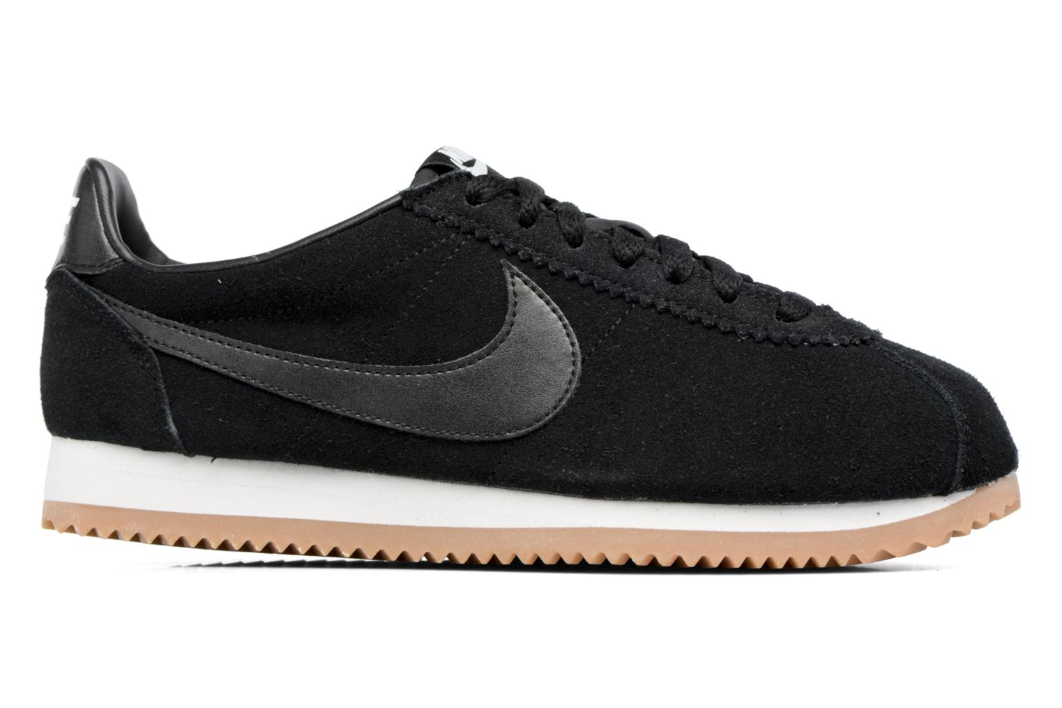 Wmns Classic Cortez Suede Black/Black-Summit White-Gum Med Brown