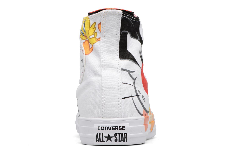 Baskets Converse Chuck Taylor All Star Looney Tunes Hi Blanc vue droite