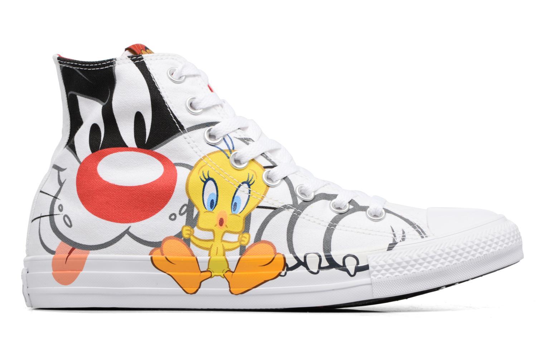Baskets Converse Chuck Taylor All Star Looney Tunes Hi Blanc vue derrière