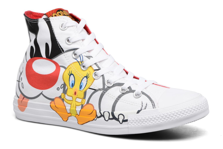 Baskets Converse Chuck Taylor All Star Looney Tunes Hi Blanc vue détail/paire