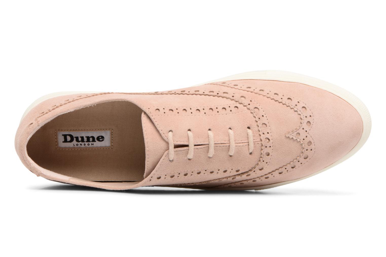 Chaussures à lacets Dune London ELEYNA Beige vue gauche
