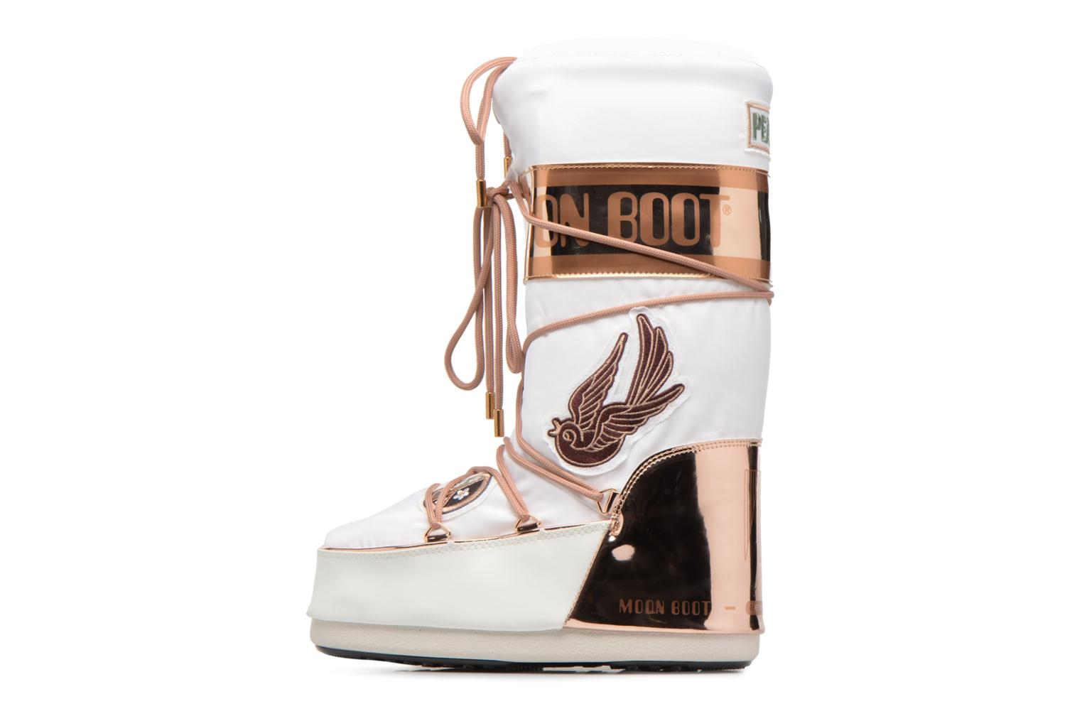 Ankle boots Moon Boot Moon Boot Peace Love White front view