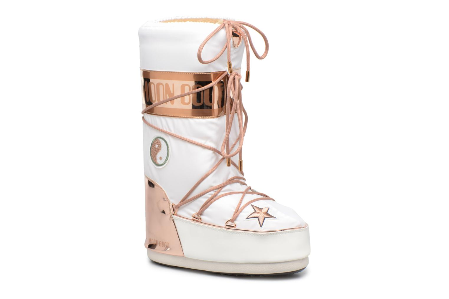Ankle boots Moon Boot Moon Boot Peace Love White detailed view/ Pair view