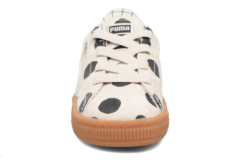 Baskets Puma Cream L3 x Tinycottons Beige vue portées chaussures