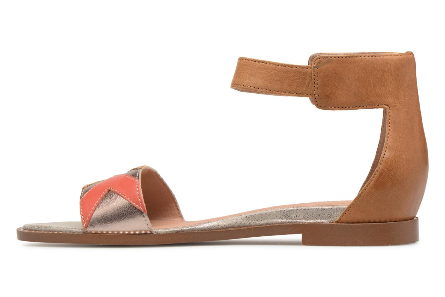 Sandals Karston Sofox Brown front view