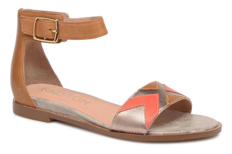 Sandals Karston Sofox Brown detailed view/ Pair view