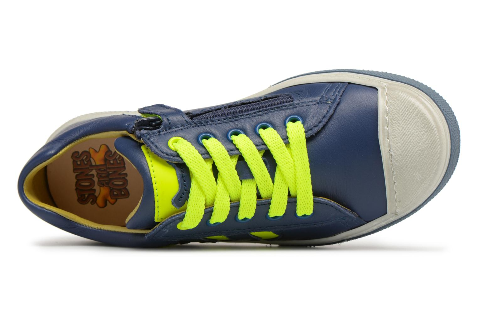 Navy + Yellow fluo Stones and Bones Clean (Bleu)