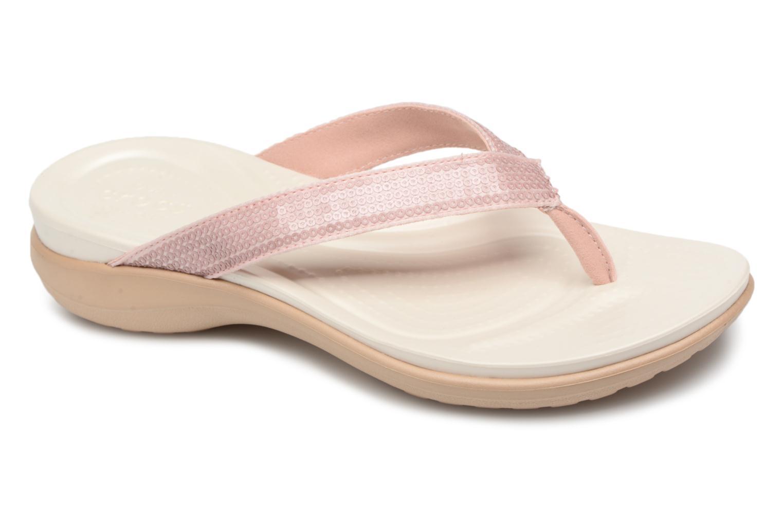 Recortes de precios estacionales, beneficios de descuento Crocs Capri V Sequin W (Rosa) - Chanclas en Más cómodo