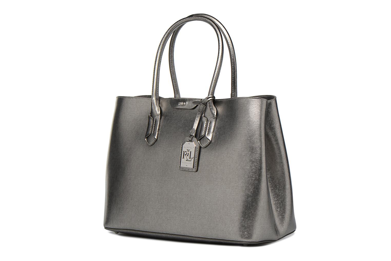 Handtassen Lauren by Ralph Lauren City Tote Tote Embossed Leather Zilver model