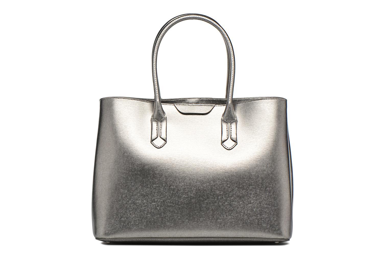 Handtassen Lauren by Ralph Lauren City Tote Tote Embossed Leather Zilver voorkant