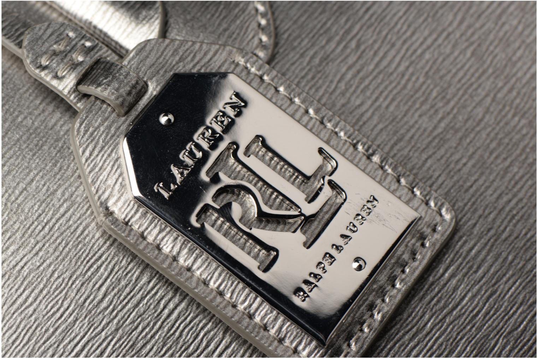 Handtassen Lauren by Ralph Lauren City Tote Tote Embossed Leather Zilver links