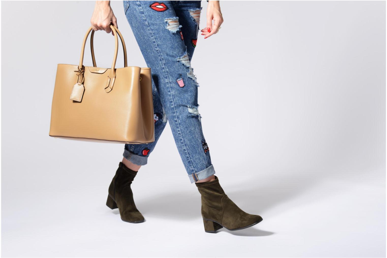 Handtassen Lauren by Ralph Lauren City Tote Tote Embossed Leather Zilver boven