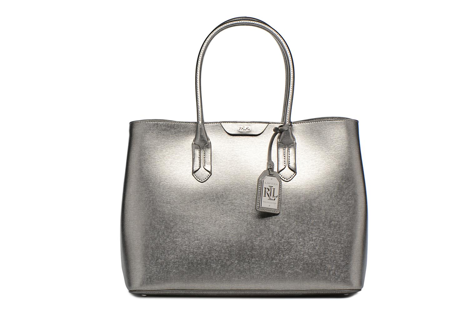 City Tote Tote Embossed Leather Silver