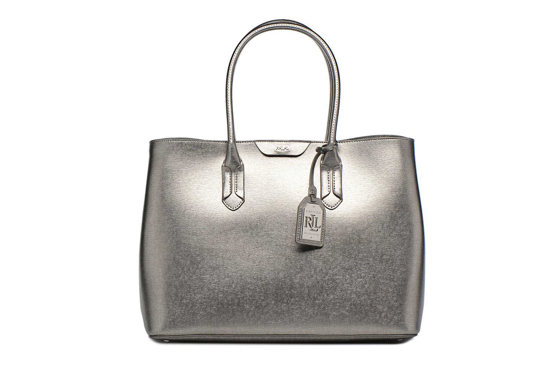 Handtassen Lauren by Ralph Lauren City Tote Tote Embossed Leather Zilver detail