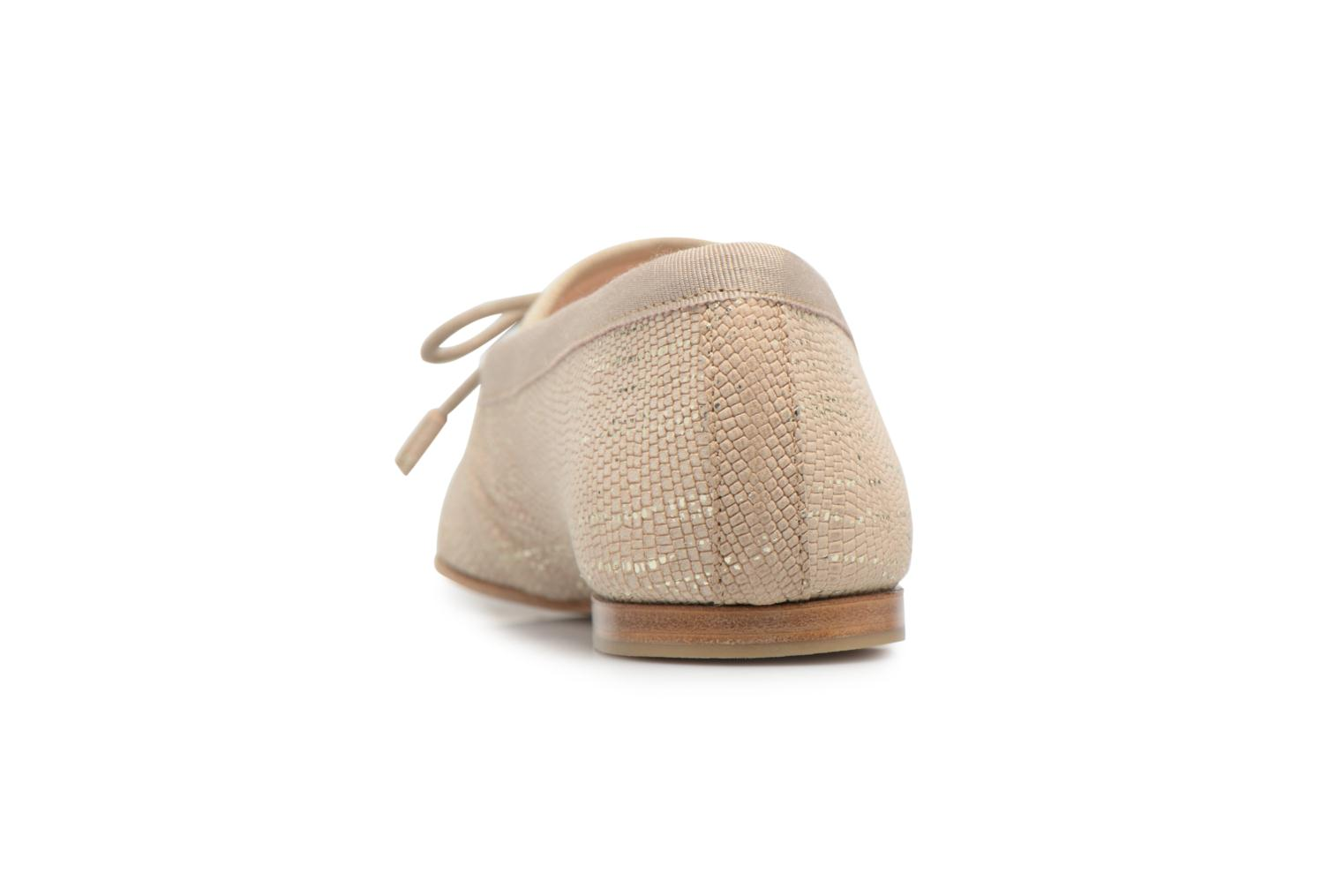 Lace-up shoes Opéra national de Paris Elika 1438 Beige view from the right