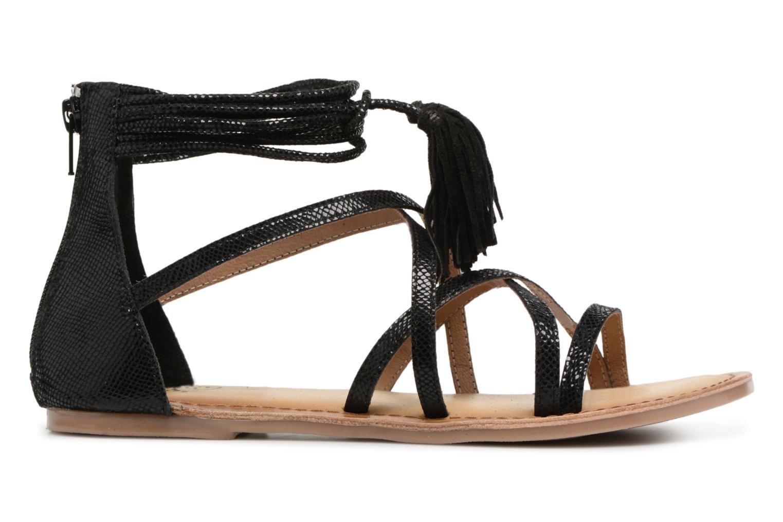 Sandales et nu-pieds I Love Shoes Kemila Leather Noir vue derrière