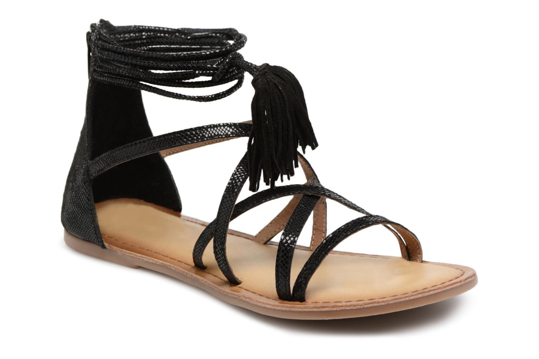 Sandales et nu-pieds I Love Shoes Kemila Leather Noir vue détail/paire