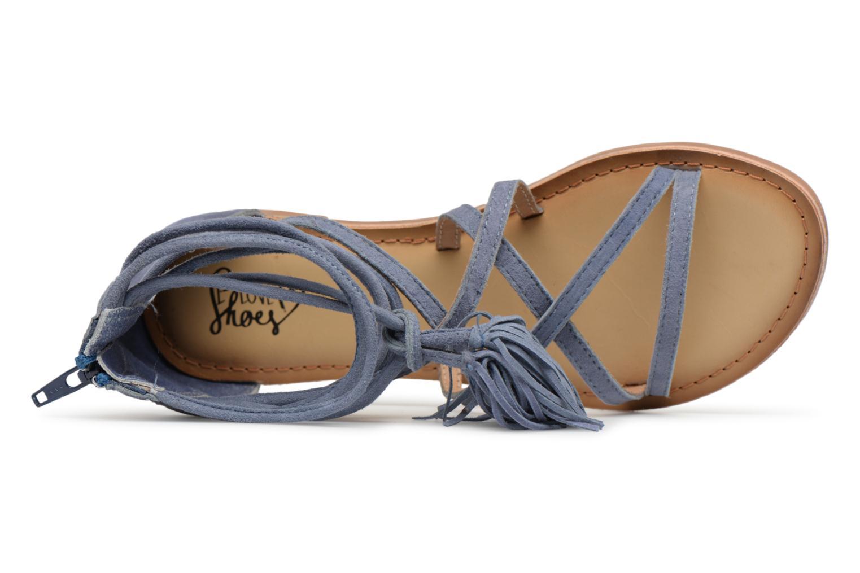 Sandales et nu-pieds I Love Shoes Kemila Leather Bleu vue gauche
