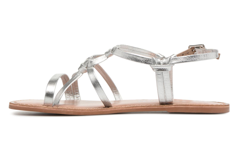 Sandales et nu-pieds I Love Shoes Kenania Leather Argent vue face