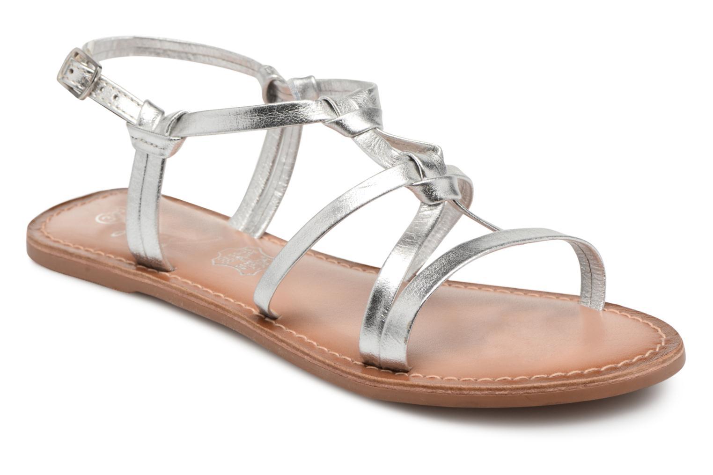 Sandales et nu-pieds I Love Shoes Kenania Leather Argent vue détail/paire