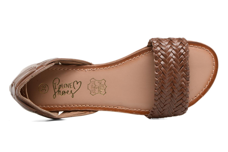 Sandalen I Love Shoes Kerina Leather braun ansicht von links