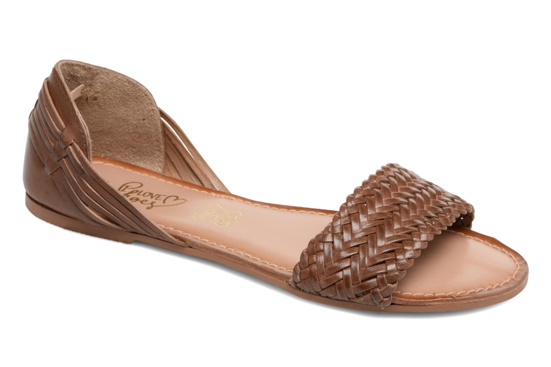 Grandes descuentos últimos zapatos I Love Shoes Kerina Leather (Marrón) - Sandalias Descuento
