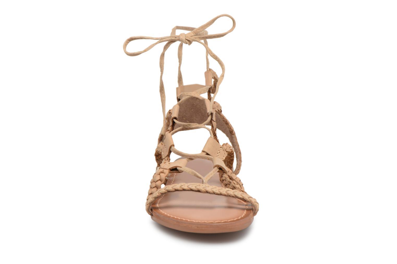 Sandales et nu-pieds I Love Shoes Supergli Leather Marron vue portées chaussures