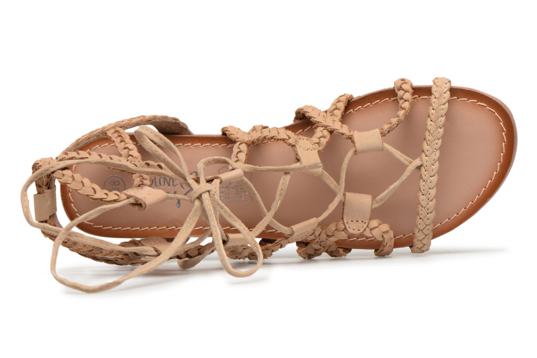 Sandales et nu-pieds I Love Shoes Supergli Leather Marron vue gauche