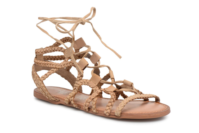 Sandales et nu-pieds I Love Shoes Supergli Leather Marron vue détail/paire