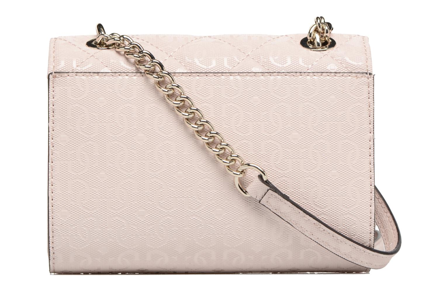 Borse Guess Seraphina Mini Crossbody Flap Rosa immagine frontale