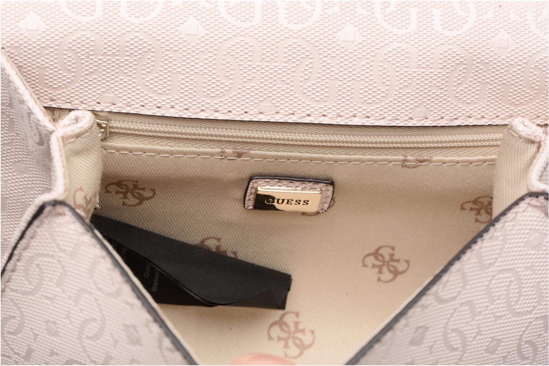 Borse Guess Seraphina Mini Crossbody Flap Rosa immagine posteriore