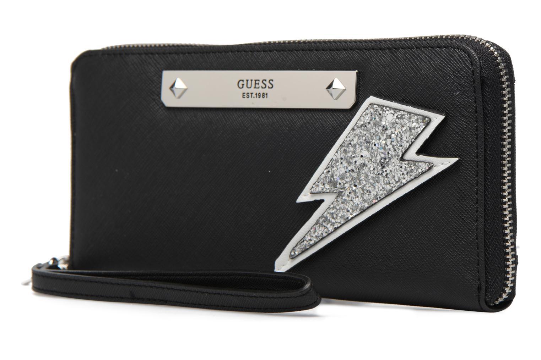 Petite Maroquinerie Guess Britta SLG Large Zip Around Noir vue portées chaussures