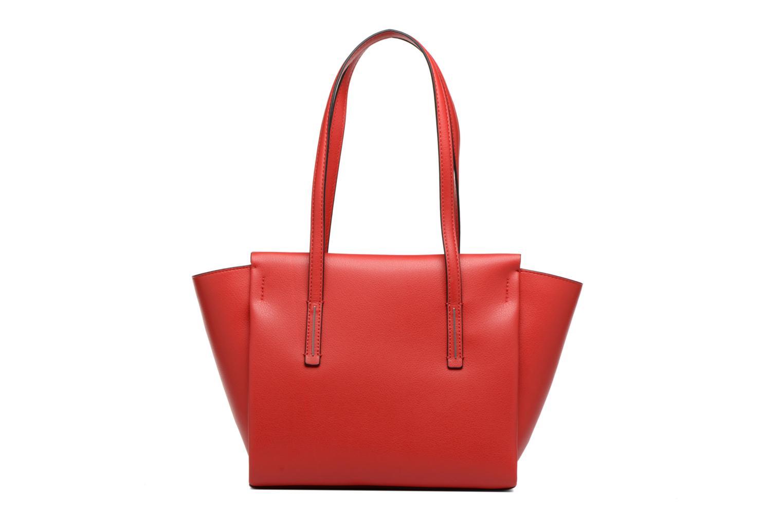 Handtaschen Calvin Klein Frame Medium Shopper rot ansicht von vorne
