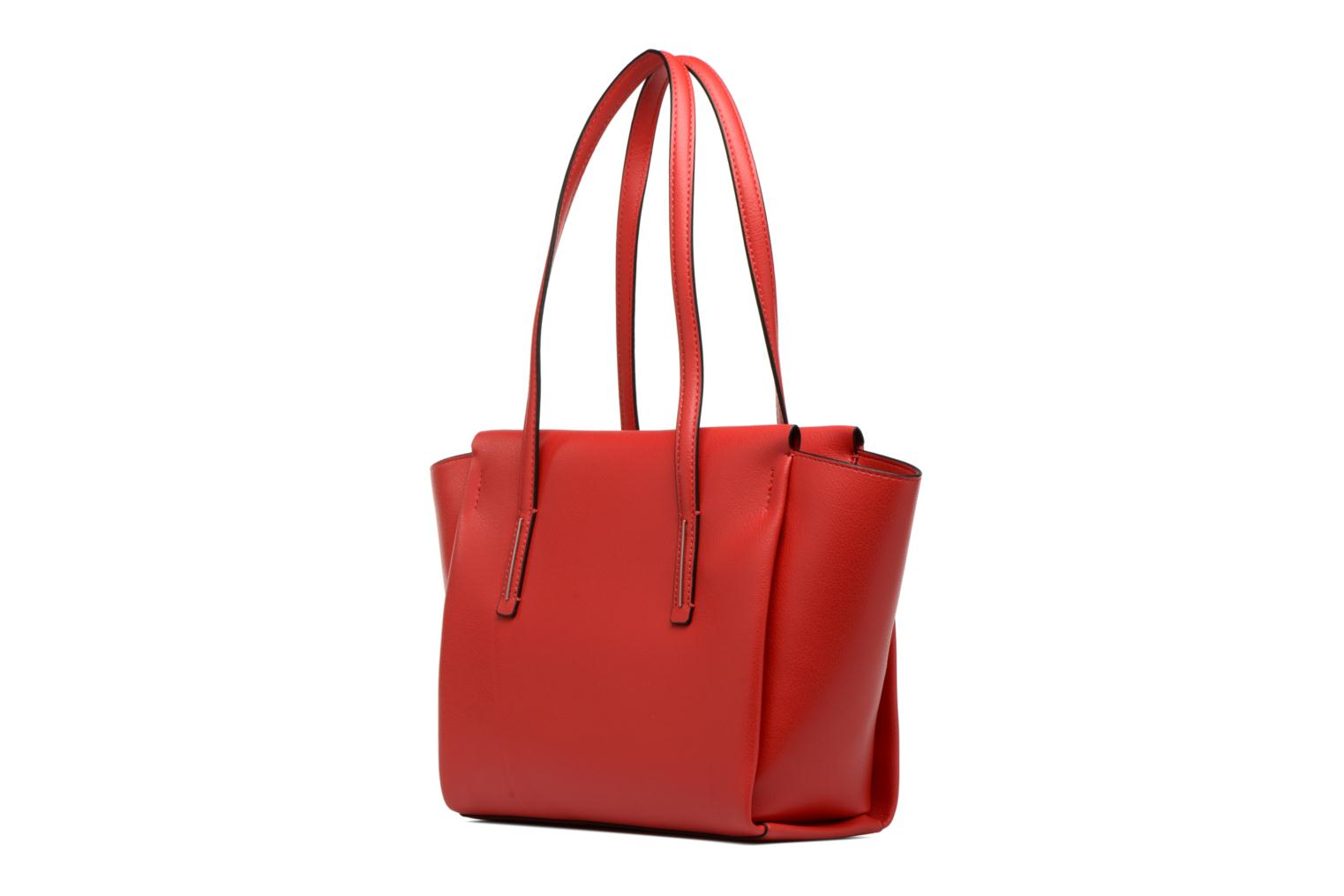 Sacs à main Calvin Klein Frame Medium Shopper Rouge vue droite